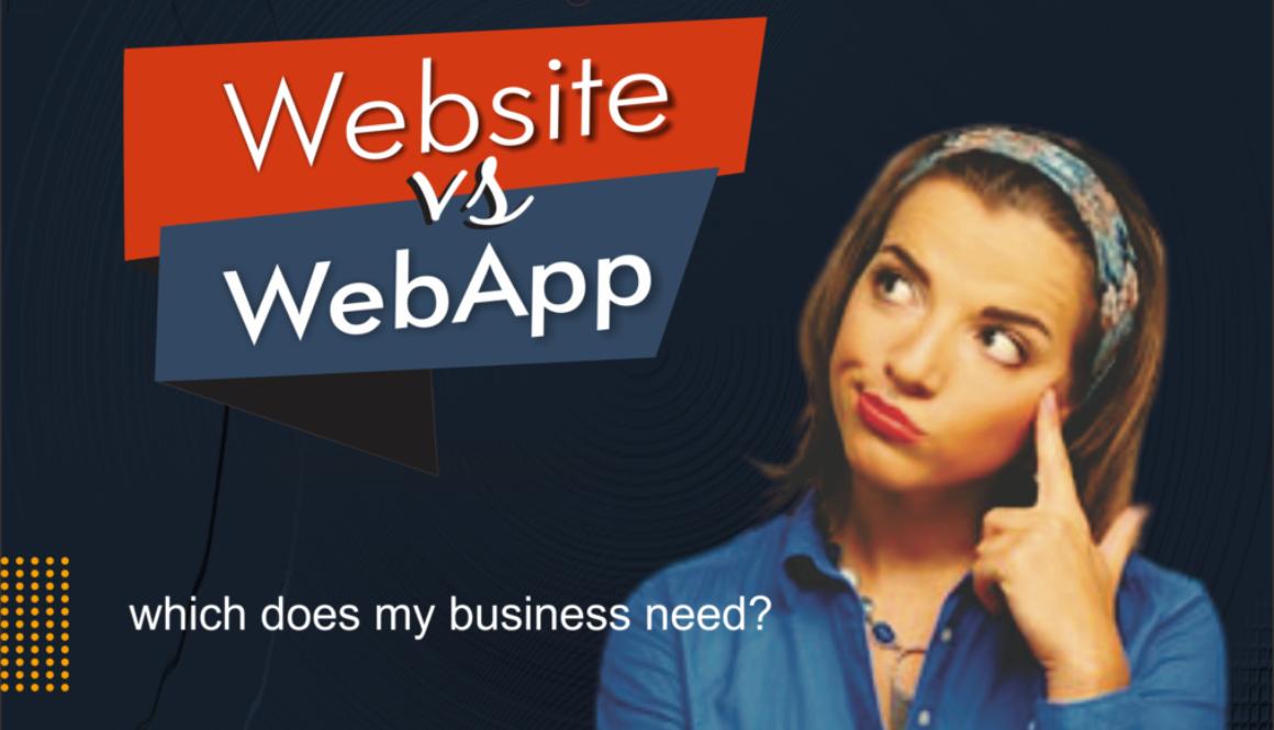 [BLOG POST] website vs webapp